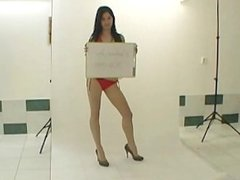 Cute 18 teen does hot BJ at the casting