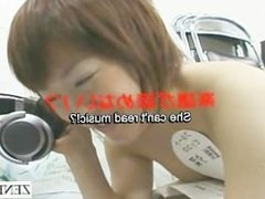 Subtitled bizarre Japanese nudist instrument lesson