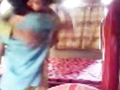Hot Indian Aunty try to enjoy with her young BF