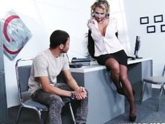 Big-tit blonde Lawyer Nikki Sexx is rammed in the ass at work