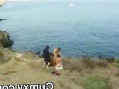 Sexy Black Slut Pounded On Beach Side