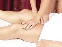 Sensual Lesbian Oil Massage