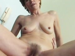 Hairy Broad With Small-Boobs