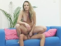 Mature Blonde Babe Craves Young Cock