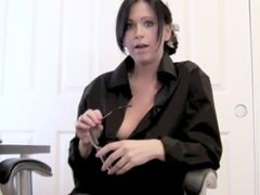 Office Slut Takes Off Her Clothes