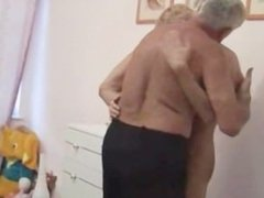 Blond boy fucked by grampa!