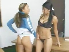 StraponLesbians havana ginger fucking girl in the ass By twistedworlds