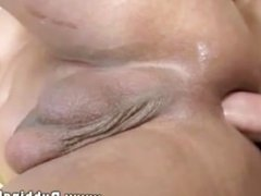 Straight client nailing masseurs clean butthole