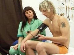 Boy Medical Exam for Blond College Student