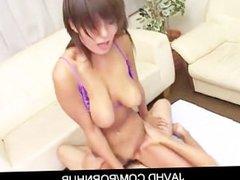 Busty japanese babe Mai Satsuki in sexy bikini fucking hard