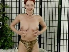 Redheaded girl masturbates for her boyfriend