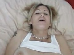 Amateur Tattooed Blonde Gets Cock