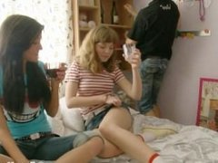 Two Hot Teens Playing