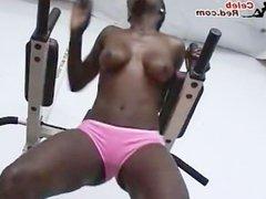 Athletic Dark Hotties Working Out Naked Rashida Grace Joneses Black