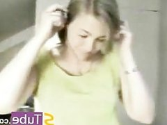 Mother Catches the Blonde Girl When She is making show on Webcam