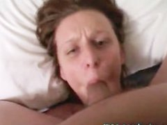 Bitch Face Fucked and Takes Face Full of Cum