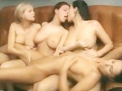 hot lesbian office group sex fingering licking