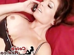 Hot and busty MILF masturbated and sucked a hard dick