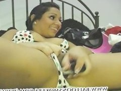 Kim plays with dildo and ass plug at party