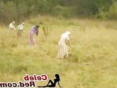 Field Worker Gets Fucked In A Woods