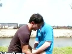 Nasty amateur public gays suck on cock
