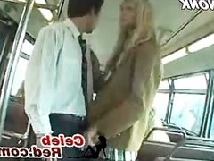 Blonde Schoolgirl Handjob In Bus