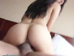 Slutty real latina hottie gets a cumshot