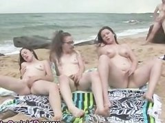 Hot outdoor fucking amateur group