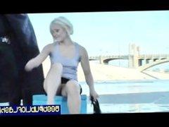 Ash Hollywood - Hot Platinum Blonde Gash Flasher pt. 2