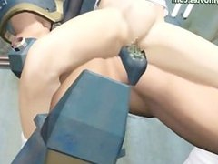 Round assed anime babe getting slammed