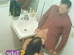 Russian Restaurant Toilet Hidden Cam Blowjob
