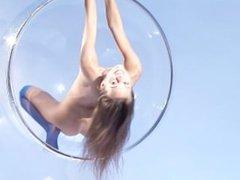Dominika C in a Bubble Chair