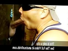 sucking long dick at the gloryhole