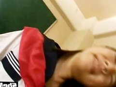 Japanese shemale school girl fucked by teacher in classroom