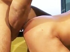 Guys play with dildos and fuck each other