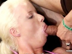 It takes a bunch of cocks to satisfy naughty blonde Lucy