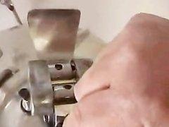Guy Uses Milking Machine to Masturbate