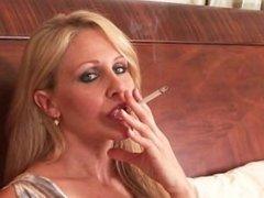 Incredible cougar smoking