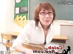 Japanese Teacher Gives Footjob In Classroom japanese