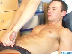Marco, straight swimmer guy get wanked by a gay guy in spite of him !