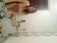 My ExGF webcam streaptease and masturbating at bathroom