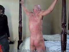 Caged and Fucked by a Leather Daddy
