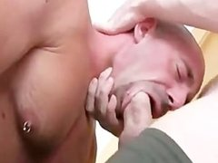 Hot hung hunk face fucks then aggressivley breeds a smooth hunk