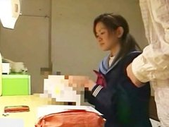 Japanese school girl self masturbation