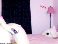 Blonde Babe Playing her Dildo in her Tight Pussy HD