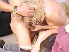 Blonde4blacks: Blonde sucking a big black cock