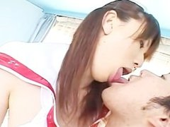 French kiss with Tall japanese