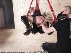 french slave soumise sandy libertine bdsm bondage fisting