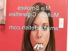 Mia smoking inside again