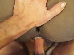 Cumming On A Black Rubber Booty